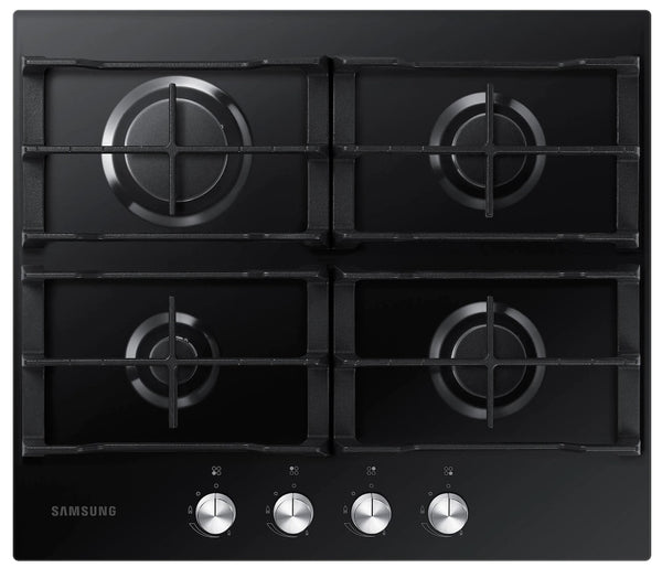 SAMSUNG NA64H3000AK- 60cm Black Glass Gas Kitchen Hob