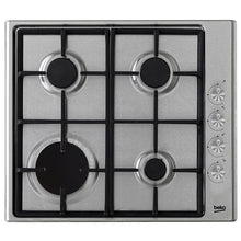 Load image into Gallery viewer, BEKO HIZG64122SX 60cm Built-in Stainless steel Kitchen Gas Hob