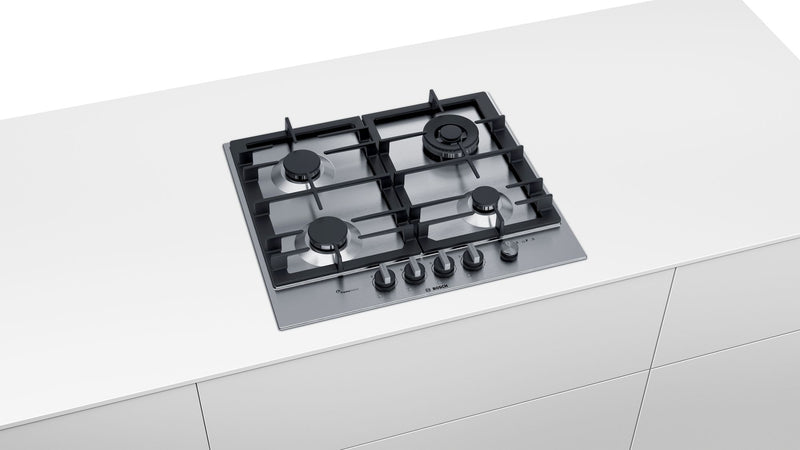 BOSCH PCH6A5M90 60cm Stainless steel Kitchen Gas Hob Built-in
