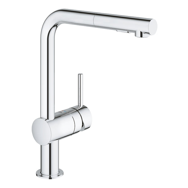 Grohe MINTA -  30274000 Single-lever Pull-Out Kitchen tap in Chrome with Spray function