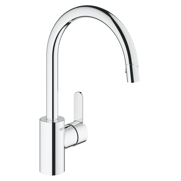 Grohe EUROSTYLE COSMOPOLITAN -  31482002 Single-lever Pull-Out Kitchen tap in Chrome with Spray function