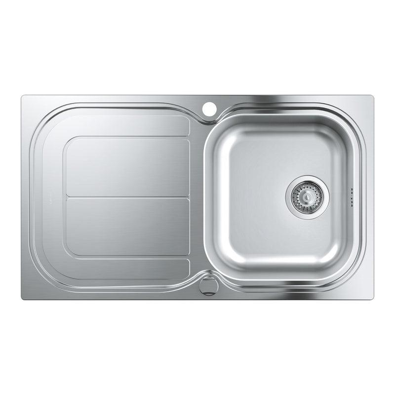 Grohe K300 -  31563SD0 Brushed Stainless Steel 1.0 Bowl Kitchen Sink with remote controlled plug