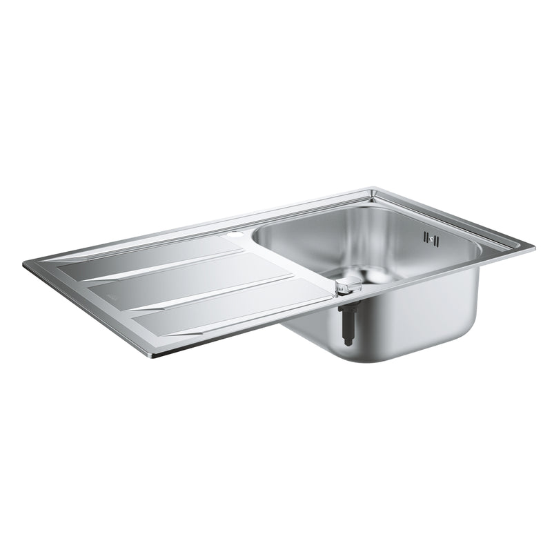 Grohe K400 -  31566SD0 Brushed Stainless Steel 1.0 Bowl Kitchen Sink with remote controlled plug