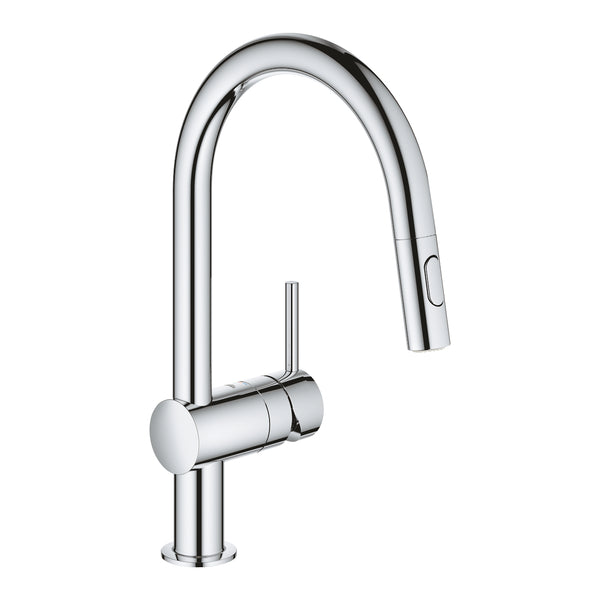 Grohe MINTA -  32321002 Single lever Pull-Out Kitchen tap in Chrome with Spray function