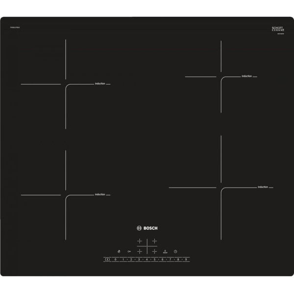 BOSCH PUE611FB1E- Bulit-in Induction Kitchen Hob Black Ceramic