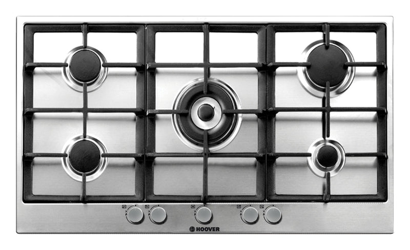Hoover HG953/1SXGH- 86cm Built-in Anti-fingerprint Stainless steel Kitchen Gas Hob