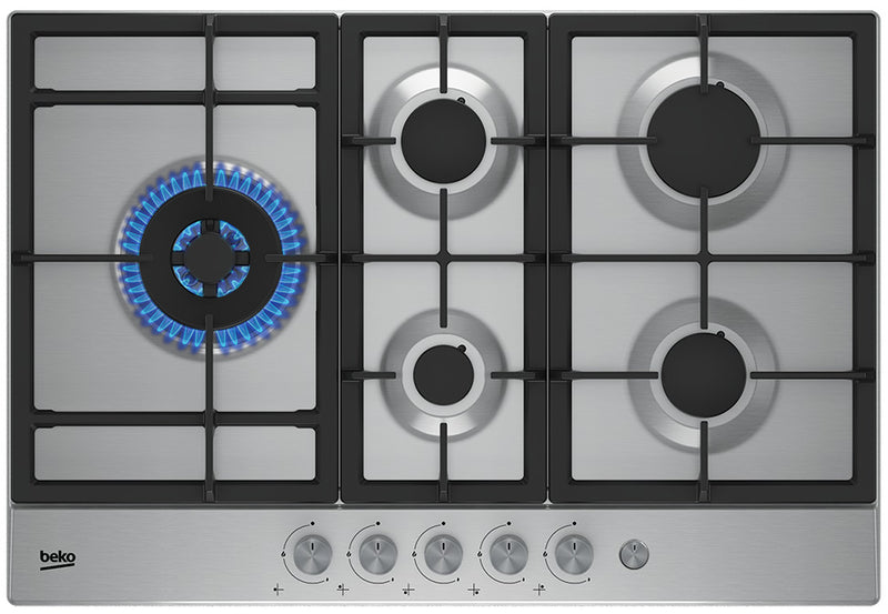 Beko HIAL 75235 SX- 75cm Built-in Stainless steel Kitchen Gas Hob, WOK burner