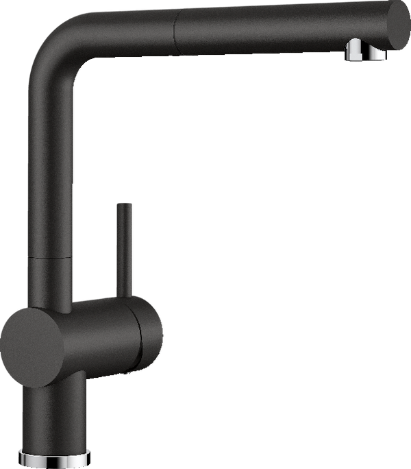 BLANCO LINUS-S - 526148 Black Silgranit Pull-Out Kitchen Tap