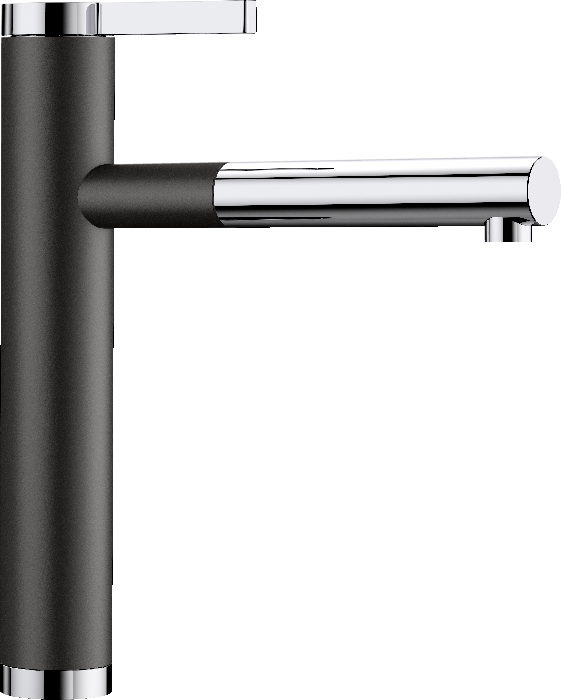 BLANCO LINEE-S - 526171 Black Silgranit Pull-Out Single lever High pressure tap