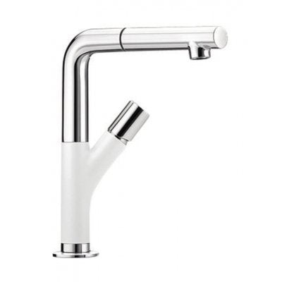 BLANCO YOVIS-S - 518295 White PULL-OUT Kitchen Tap in SILGRANIT