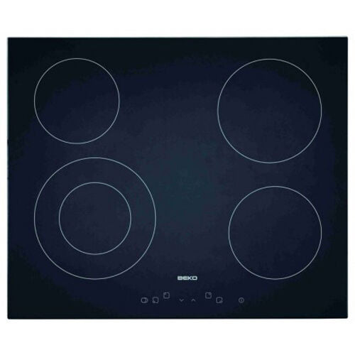 Beko HIC 64401 Built In Black Frameless Electric Ceramic Kitchen Hob