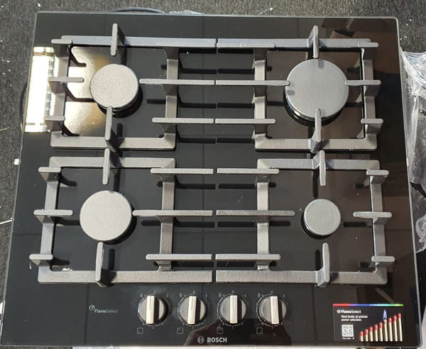 BOSCH PPP6A6B90- 60cm Built-in Black Ceramic Glass Kitchen Gas Hob - !!AFTER RETURN-CLEARANCE!!