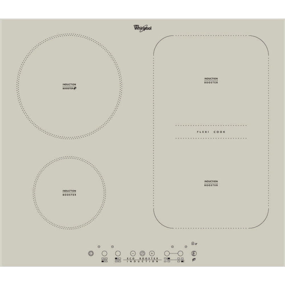 Whirlpool ACM 808/BA/S Built-In Induction Kitchen Hob Champagne Color
