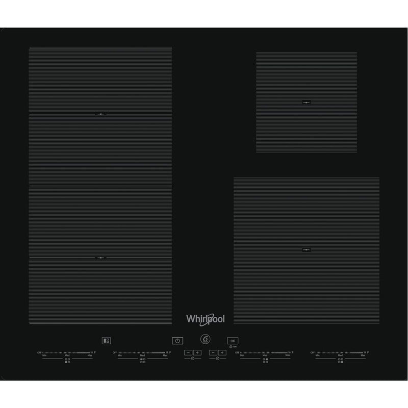 Whirlpool SMC 604F/NE Built-in Induction Kitchen Hob Black Glass