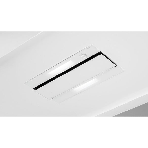 Novy 877 - 70cm White Glass'line Chimney or Canopy Cooker Hood