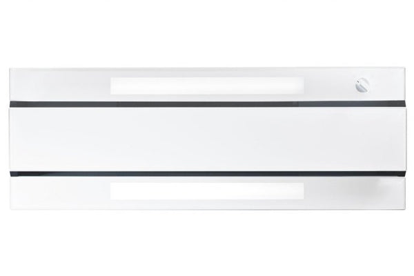 Novy 876 - 90cm White Glass'line Chimney or Canopy Cooker Hood