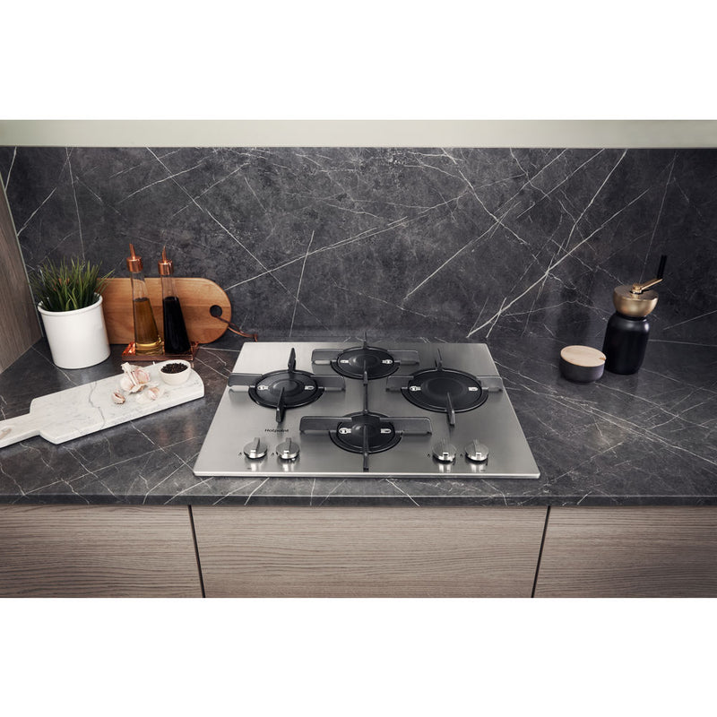 HOTPOINT FTGHL 641 D/IX/HA- 60cm Gas Kitchen Hob Stainless steel