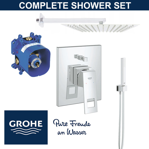 Grohe Shower Set  EUROCUBE - RAPIDO E - EUPHORIA  Brand New