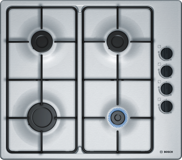 BOSCH PBP6B5B80- Built-in Stainless Steel Kitchen Gas Hob