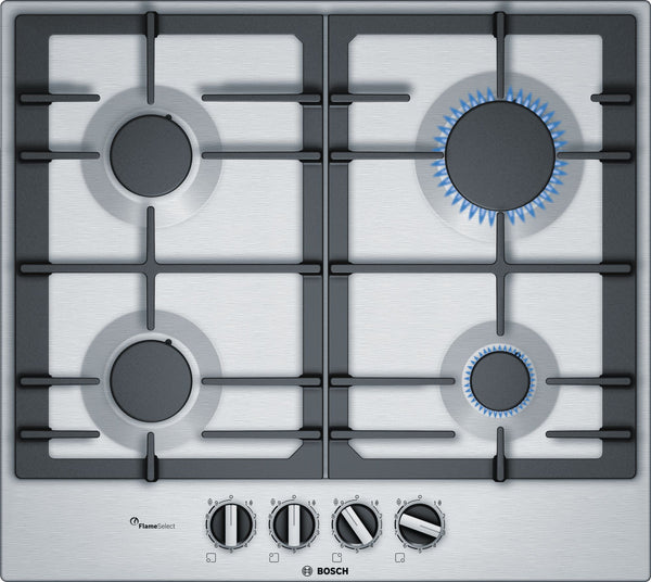 BOSCH PCP6A5B90- 60cm Built-in Stainless steel Kitchen Gas Hob