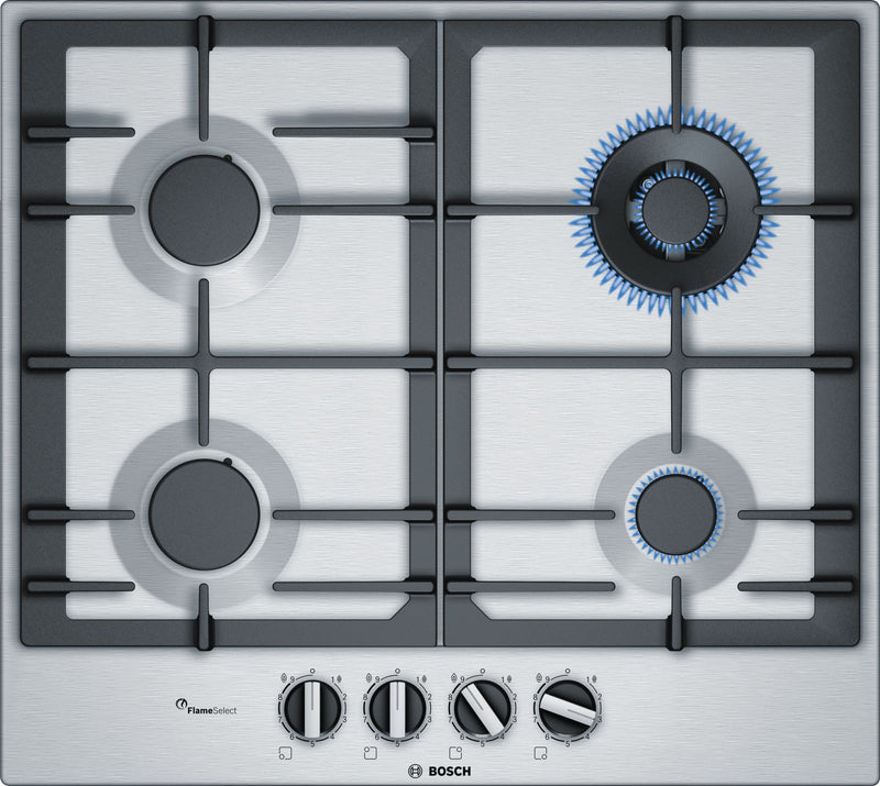 BOSCH PCH6A5B90- 60cm Built-in Stainless steel Kitchen Gas Hob