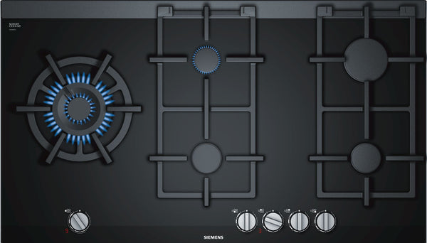 SIEMENS ER9A6SD70- 90cm Built-in Black Ceramic Glass Kitchen Gas Hob