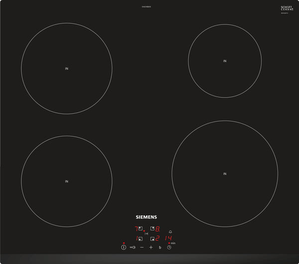 SIEMENS EH631BEB1E 60cm Bulit-in Induction Kitchen Hob Black Ceramic Front beveled Glass