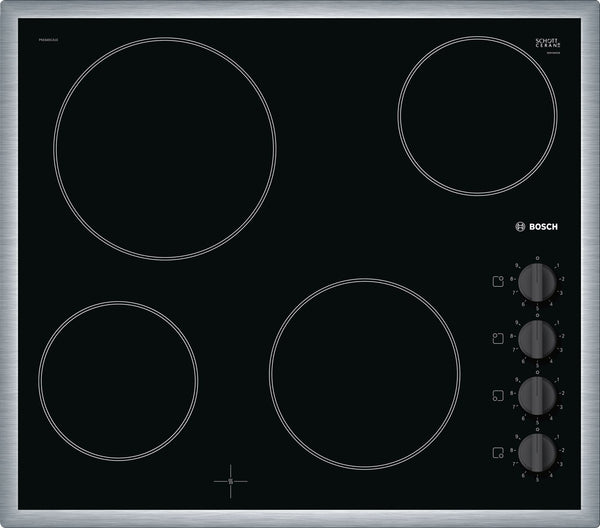 Bosch PKE645CA1E- Built-in Electric Black Ceramic Kitchen Hob