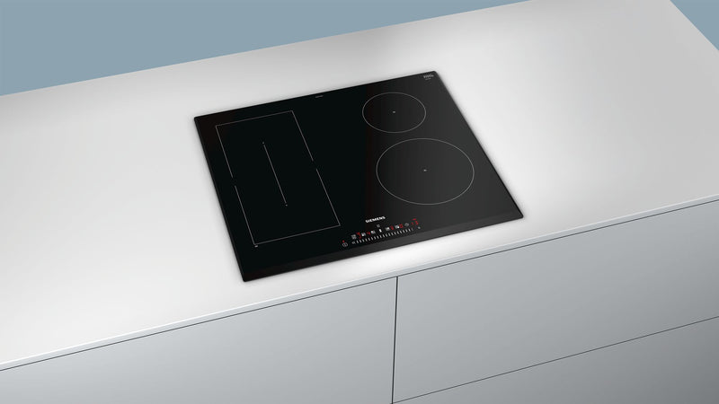 SIEMENS ED651FPB1E Bulit-in IQ500 Induction Kitchen Hob Black Ceramic Front and Sides beveled glass