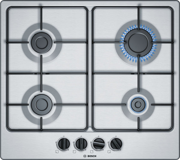 BOSCH PGP6B5B80- 60cm Built-in Stainless steel Kitchen Gas Hob