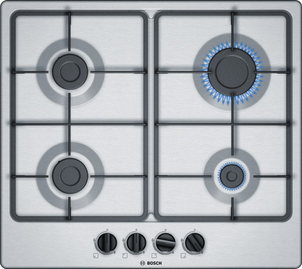 BOSCH PGP6B5B60- 60 cm, Gas hob with integrated controls, Stainless steel