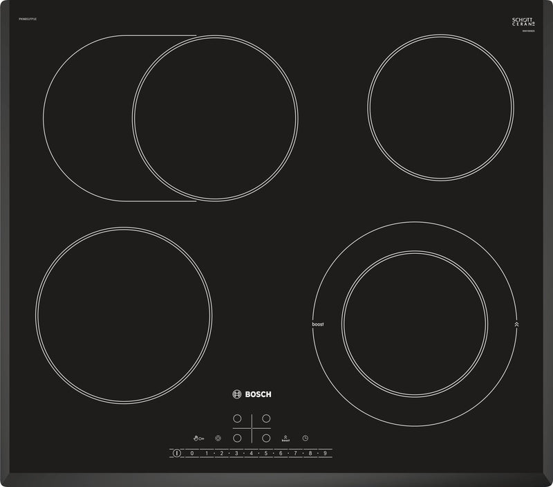Bosch PKN651FP1E- Built-in Black Frameless Electric Ceramic Kitchen Hob