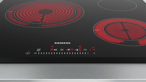 SIEMENS ET651FKP1E 60cm Bulit-in Electric Ceramic Kitchen Hob Front and Sides beveled glass