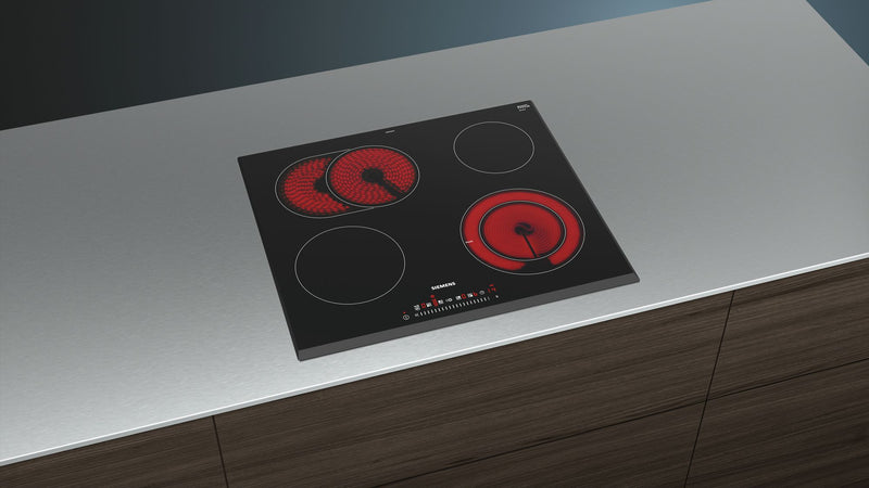 SIEMENS ET651FNP1E 60cm Bulit-in Electric Ceramic Kitchen Hob Front and Sides beveled glass