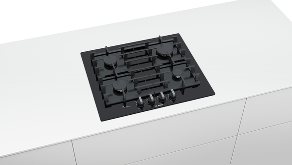 BOSCH PPP6A6B90- 60cm Built-in Black Ceramic Glass Kitchen Gas Hob