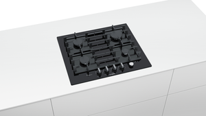 BOSCH PPP6A6M90- Built-in Black Ceramic Glass Kitchen Gas Hob