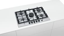 Load image into Gallery viewer, BOSCH PCQ7A5M90- 75 cm, Gas hob with integrated controls, Stainless steel