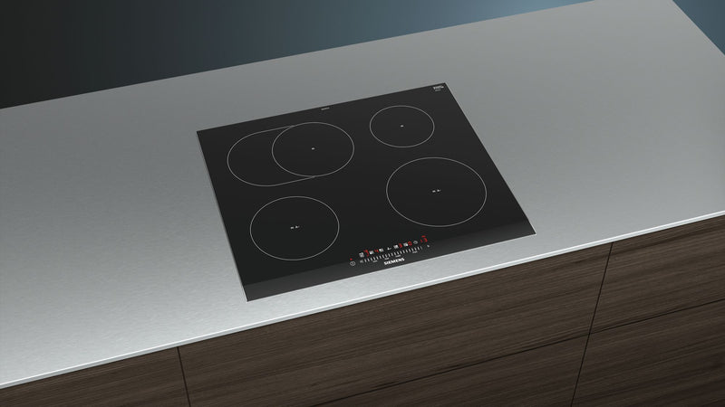 SIEMENS EH675FFC1E Bulit-in Induction Kitchen Hob Black Glass