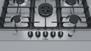 BOSCH PCQ7A5M90- 75 cm, Gas hob with integrated controls, Stainless steel