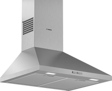 Load image into Gallery viewer, BOSCH DWP64BC50 Brushed Steel wall mounted CHIMNEY HOOD
