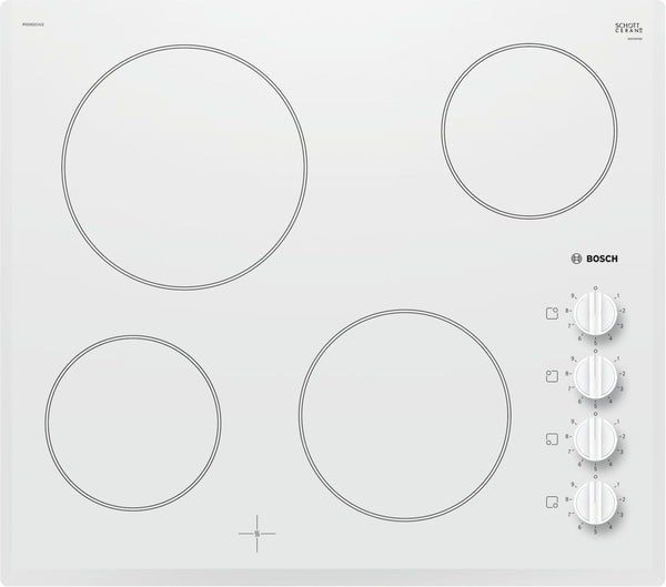 Bosch PKE652CA1E- Built-in Electric White Ceramic Kitchen Hob
