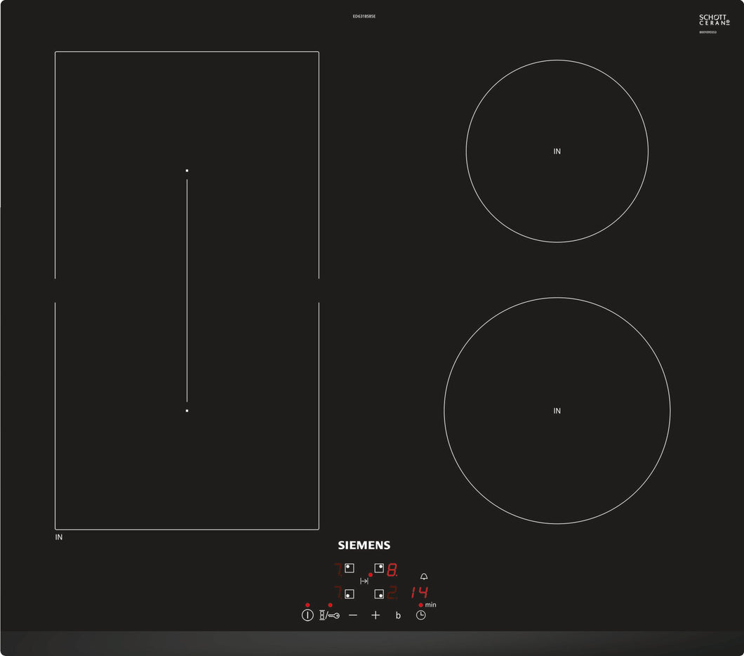 SIEMENS IQ500 ED631BSB5E Bulit-in Induction Kitchen Hob Black Glass