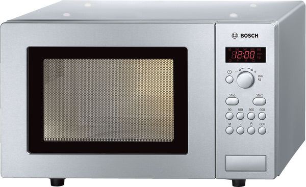 BOSCH HMT75M451- Freestanding brushed steel microwave 800W, 17L, 5 power levels