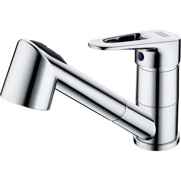 Franke Nogat Pull Out Chrome Kitchen Tap Single Lever
