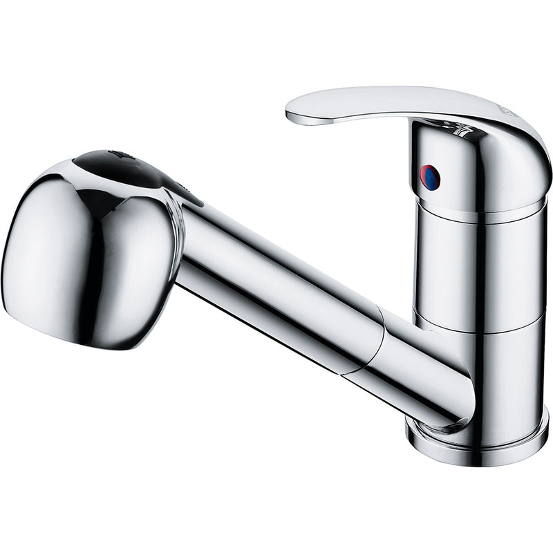 Franke Warta 40 Pull Out Spray Chrome Kitchen Tap Single Lever