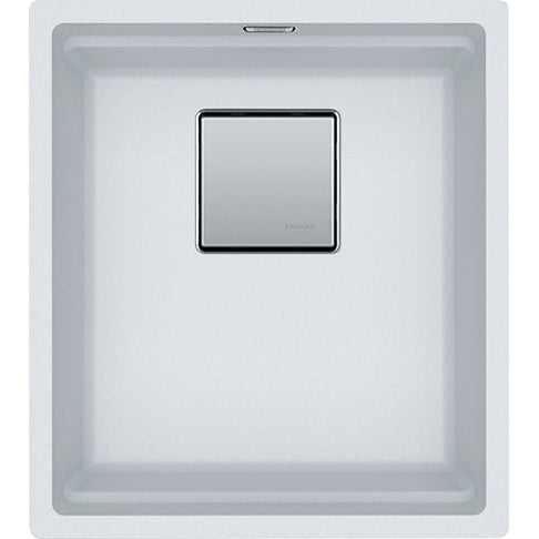 Franke Kanon KNG 110-37 - 125.0528.630 White Undermount Kitchen Sink in FRAGRANITE