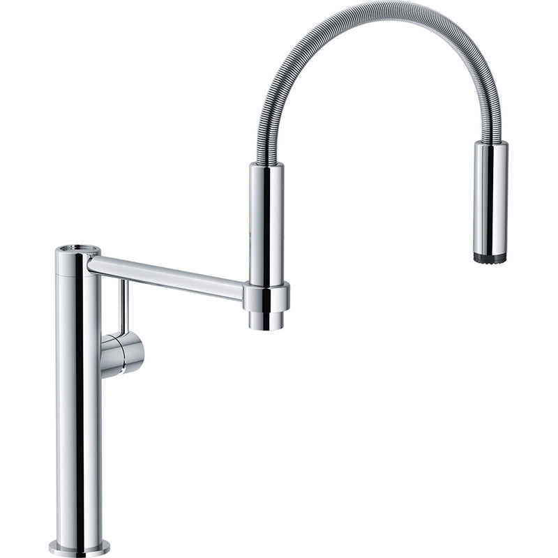 FRANKE PESCARA 360 CHROME KITCHEN TAP SPRAY FUNCTION