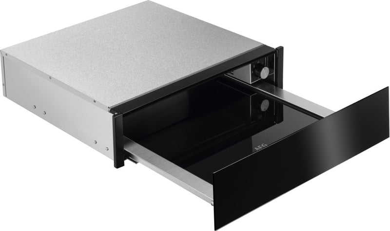 AEG KDE911424B- Black glass Push to open Warming Drawer