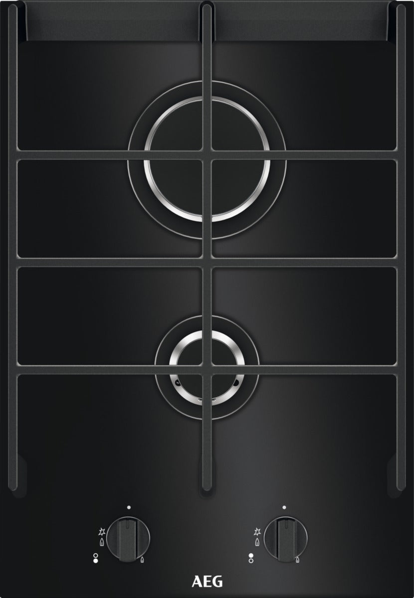 AEG HC412001GB- 36cm Gas Hob Black Ceramic Glass