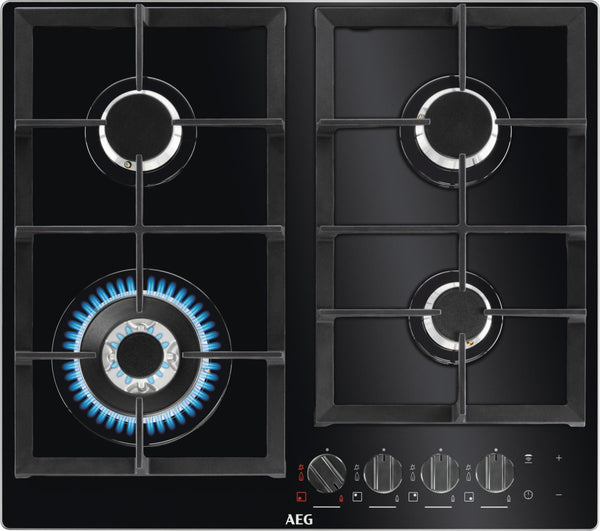 AEG HKB64540NB- Built-In Kitchen Gas Hob Black Glass